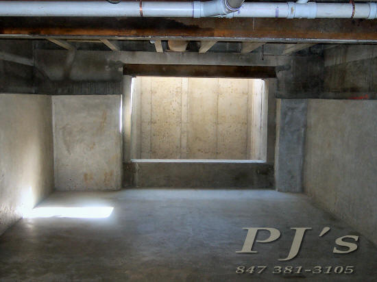 Shotcrete gunite pj 39 s concrete in barrington for Convert crawlspace to basement cost